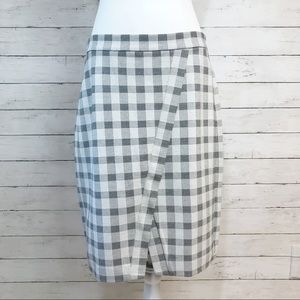 Cabi Black Checker Valentina Skirt Size 8